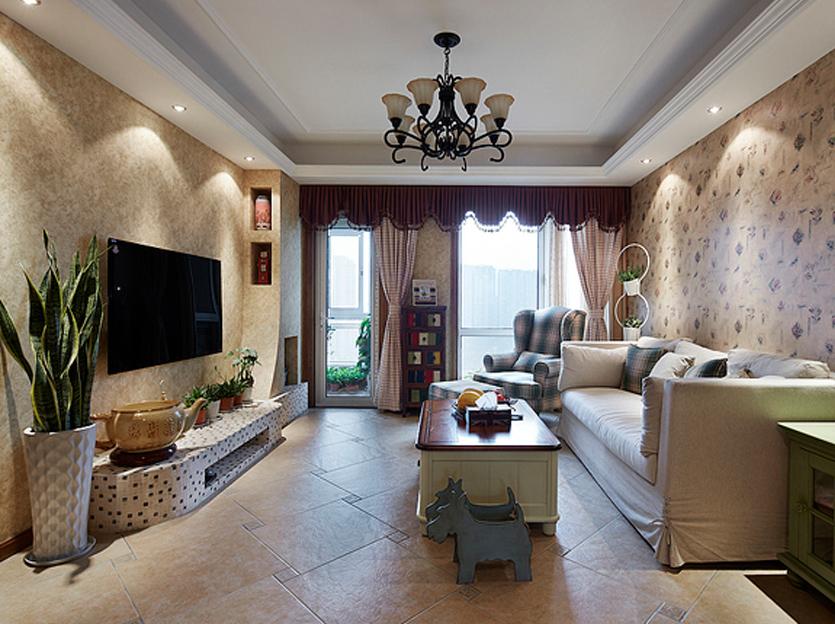 烟台家庭装修效果图—11万打造君悦湾小区145平米乡村田园风格