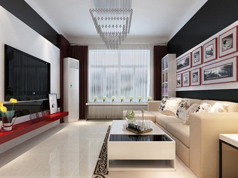 烟台家庭装修案例—8万天籁中园91平米现代风格